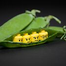 Lego peas in a pod by Kevin  Poulton - aka 'Sad Old Biker'