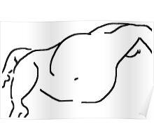 female nude/lying -(230611)- digital artwork/ms paint Poster