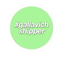 #gallavich shipper - green Photographic Print