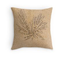 Sand balls and living the beach crab holes Throw Pillow