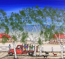"""Shearers Return"" Original Australian Acrylic Painting; SOLD by EJCairns"