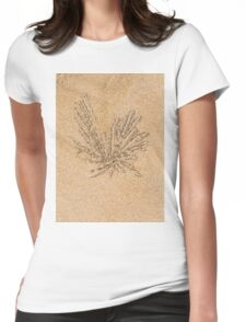 Sand balls and living the beach crab holes Womens Fitted T-Shirt