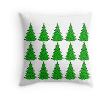 Christmas tree (multiple) Throw Pillow