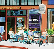 Lunch at the Bridgeway Cafe by Melinda Patrick