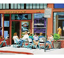 Lunch at the Bridgeway Cafe Photographic Print