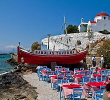 Greece. Mykonos island. Open-air taverna. by vadim19