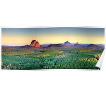 Glasshouse Mountain Panoramic Poster