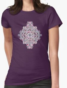 Floral Diamond Doodle in Red and Pink T-Shirt