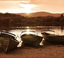 Derwent Water Sunset by Mishka Gora