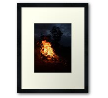 Fire on the Hill Framed Print