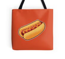Pixel Hot Dog Tote Bag