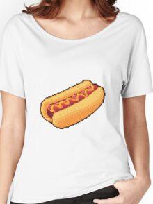 Pixel Hot Dog Women's Relaxed Fit T-Shirt