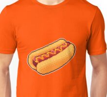 Pixel Hot Dog Unisex T-Shirt