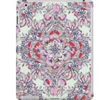 Floral Diamond Doodle in Red and Pink iPad Case/Skin