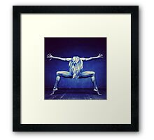Pose Blue Framed Print