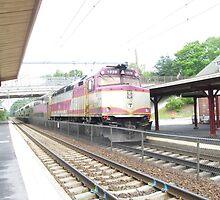 MBTA Commuter Rail Engine by Eric Sanford