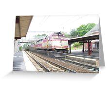 MBTA Commuter Rail Engine Greeting Card