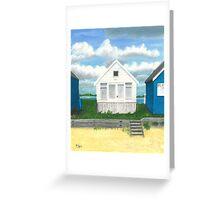 The white beach hut Greeting Card