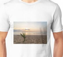 Palm and sunset on the sea Unisex T-Shirt