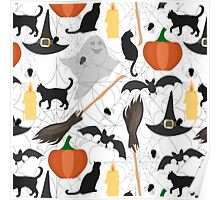 Halloween pattern Poster