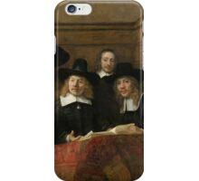 The Sampling Officials by Rembrandt van Rijn 1662 iPhone Case/Skin