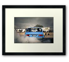 LYNCHY Burn Out Framed Print