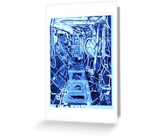 The Engine Room of a Gearing Class Destroyer Greeting Card