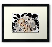 In a bubble Framed Print