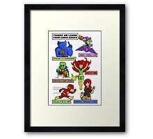 Comic Book Facts Framed Print