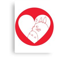 My Neighbour Totoro Heart Canvas Print