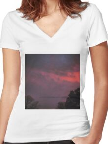 Clouds of Love Women's Fitted V-Neck T-Shirt