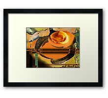 Vertical-Horizontal Digital Abstract  Framed Print