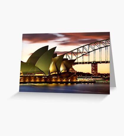 Sydney Icons Closeup Greeting Card