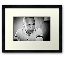 Dr Lucas da Costa - Timor-Leste 2005 Framed Print