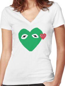 Kermit Des Garcons Women's Fitted V-Neck T-Shirt
