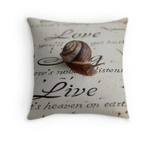 Philosophy of a Snail  Throw Pillow