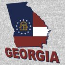 Georgia State Flag by peteroxcliffe
