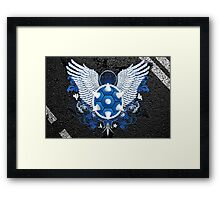 Blue Shell // I'm Coming for You Framed Print