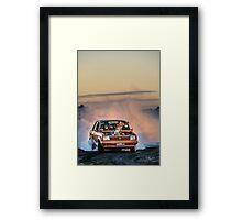 GEMSKID Bairnsdale Dragway Burn Out. Framed Print