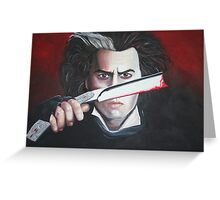 Sweeney Todd - Johnny Depp Greeting Card