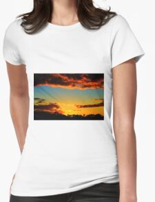 HDR Sunset Womens Fitted T-Shirt
