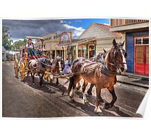 The Coach ride - Sovereignhill  Poster