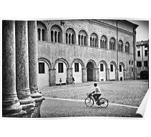 Three walking :: One biking Poster