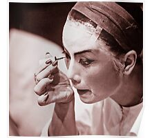 Chinese opera female character doing make-up Poster