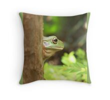 Frog-a-Boo Throw Pillow