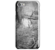 in this dark forest, lights can be seen iPhone Case/Skin