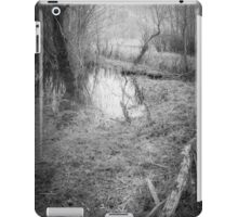 in this dark forest, lights can be seen iPad Case/Skin