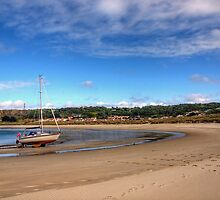 Tide out at Braye Beach - Alderney by NeilAlderney