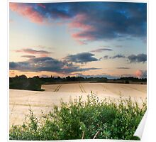 Cotswold Summer Evening Poster