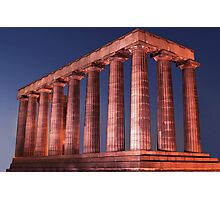 Edinburgh National Monument at Night Photographic Print